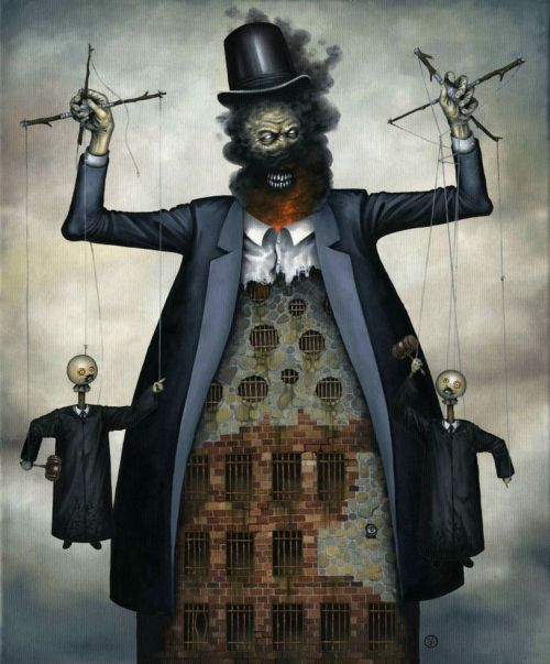 Jeff Christensen js4853 deviantart pinturas surreais sombrias O usurpador
