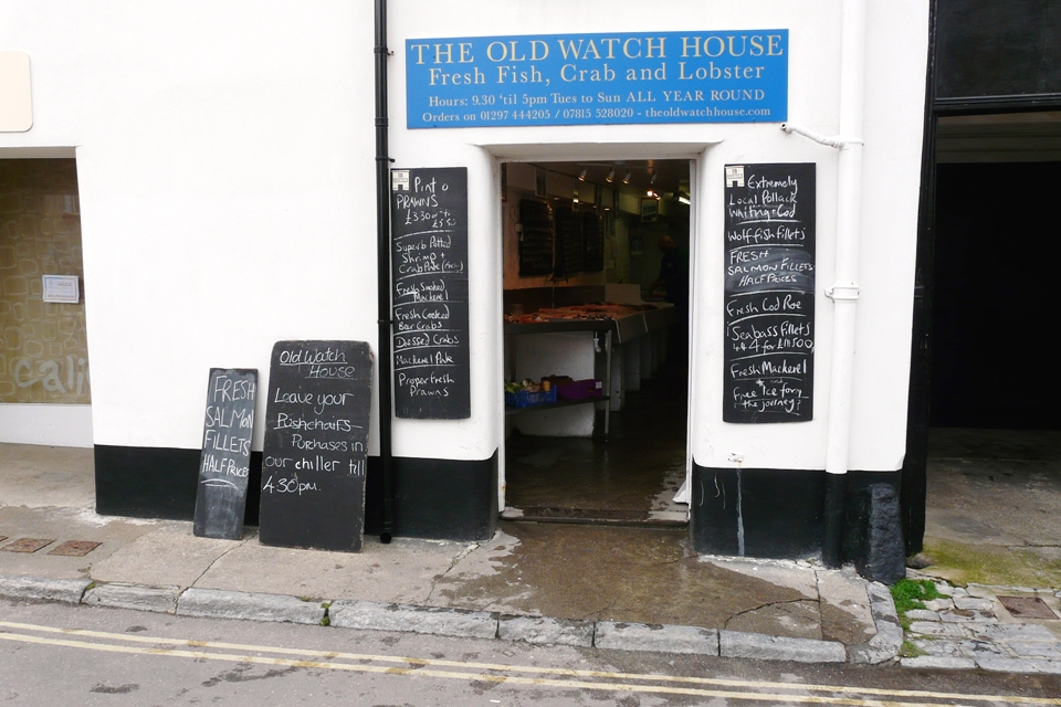 Good food shops lyme regis the old watch house for Fresh fish store near me