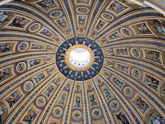 Interior view of Saint Peter's Cupola.