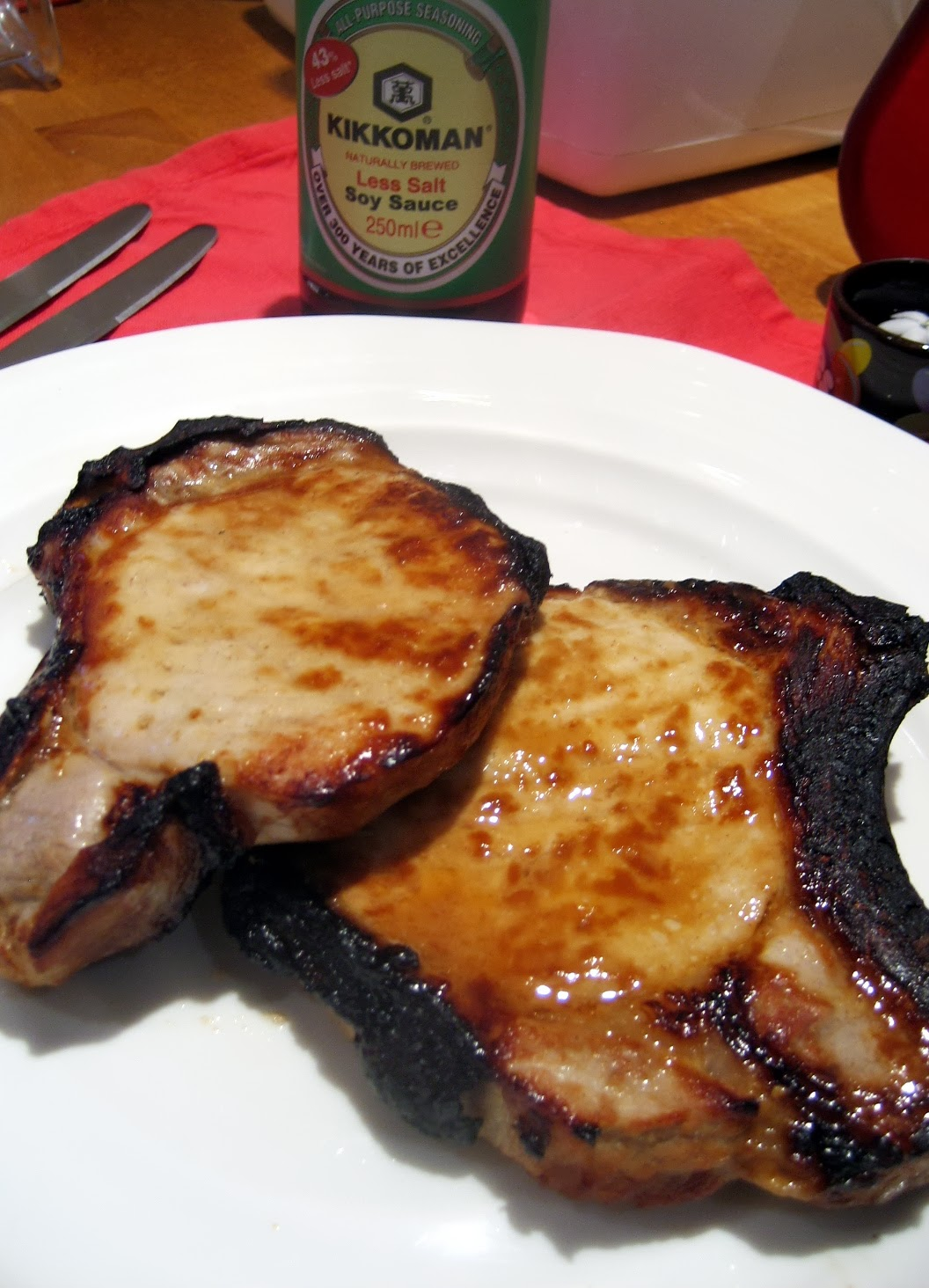 Garlic Honey Soya Sauce Marinade with Pork Chops