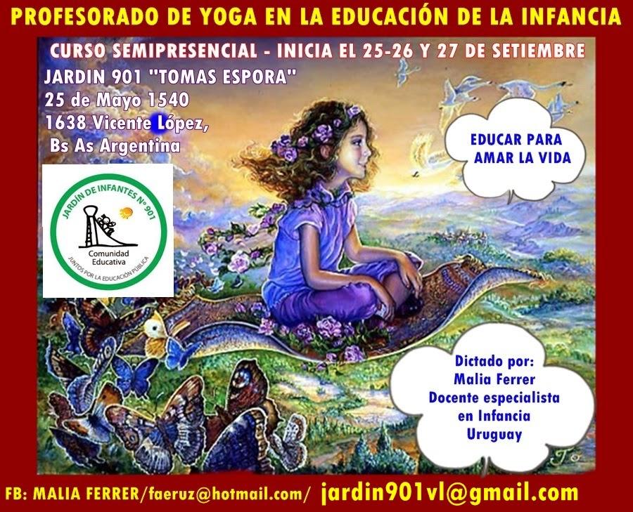 Yoga para nuevos ni os profesorado de yoga en la for Jardin 901 vicente lopez