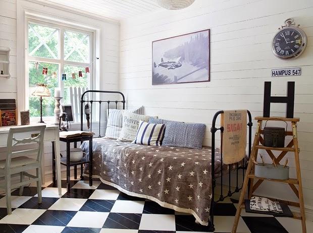 Decoraci n f cil dormitorio juvenil vintage - Dormitorios juveniles con estilo ...
