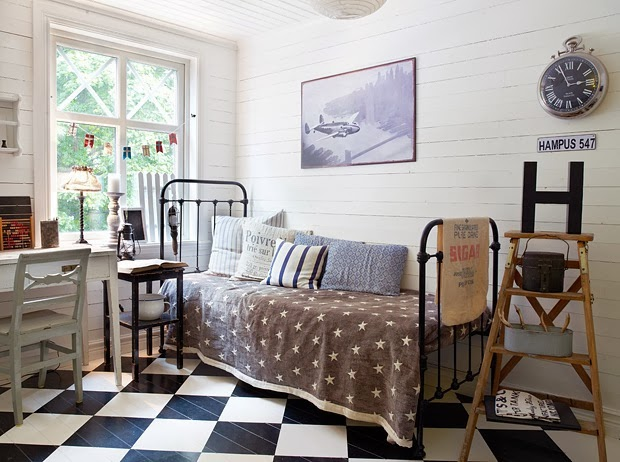 Decoraci n f cil dormitorio juvenil vintage for Dormitorio retro