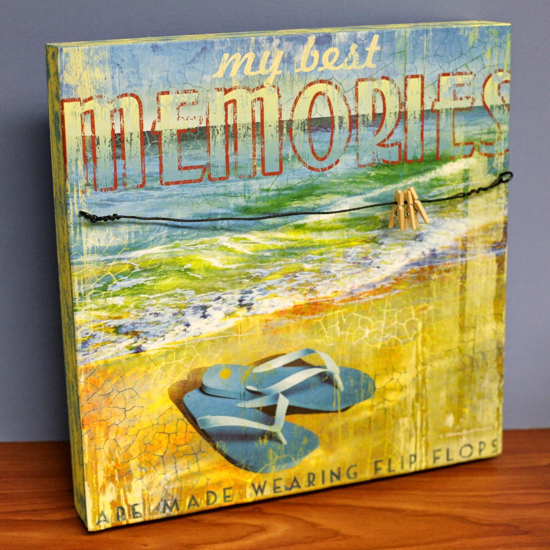 Ben Franklin Crafts and Frame Shop: Beach Memories Wall Art