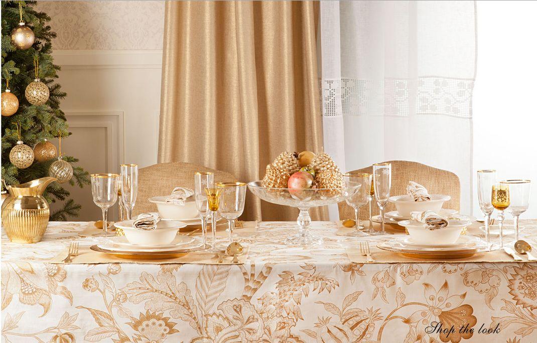 Ba l de navidad ideas doradas para decorar la mesa de - Ideas para decorar la mesa de navidad ...