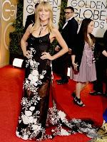 Хайди Клум рокля с шлейф Marchesa Златен глобус 2014