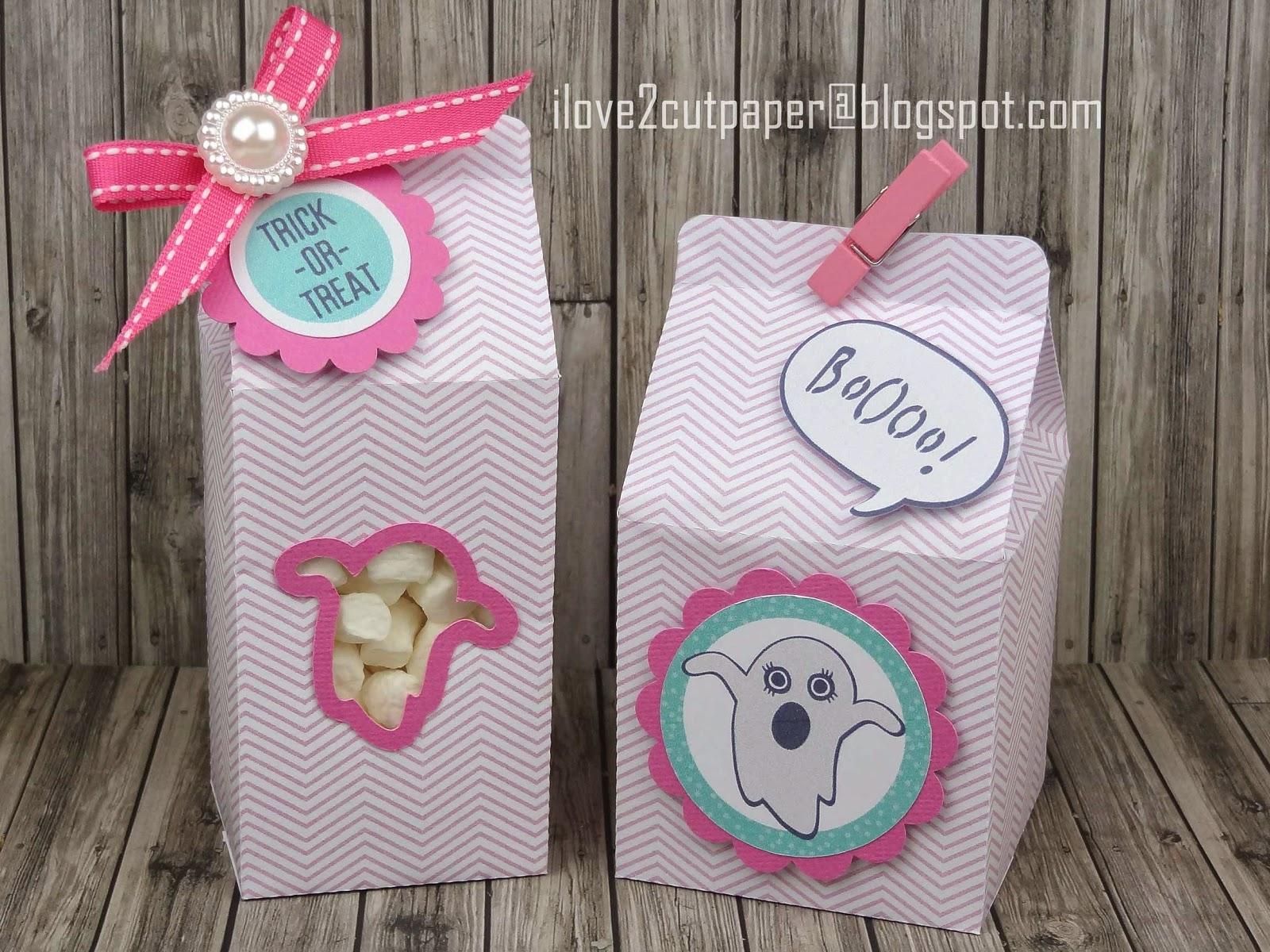 Trick or Treat Milk Carton Gift Box, svg files