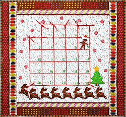 Cookie Cutouts Quilted Advent Calendar