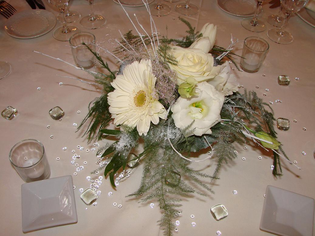 Id et photo d coration mariage decor centre de table de - Petit bouquet de table ...