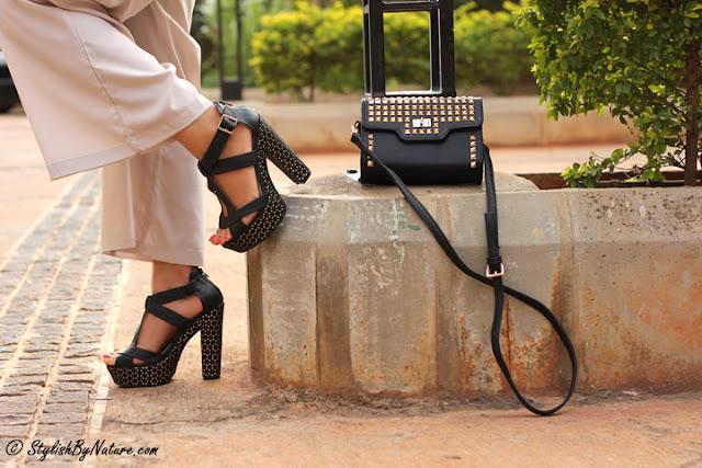 Platform heels leather