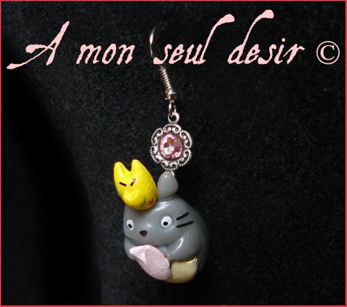 bijou mon voisin Totoro boucles d'oreilles Hayao Miyazaki Studio Ghibli Manga Japon Japanimation