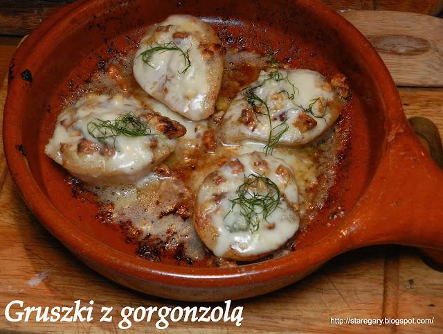 Gruszki z gorgonzolą