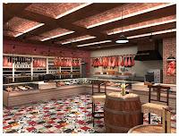 Дизайн интерьера магазина мясных полуфабрикатов,Москва