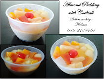 Almond Pudding with Cocktail