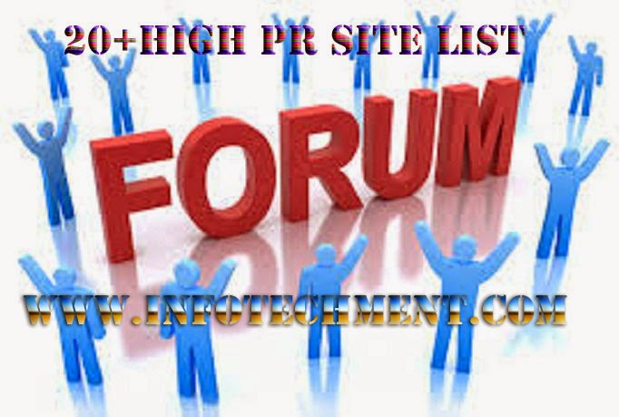 High PR 20+ Dofollow Forum Posting Site List of 2015-16