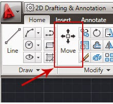 Cara menggunakan Perintah Move dan Copy dalam Autocad