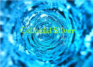 A colloidal silver illustration