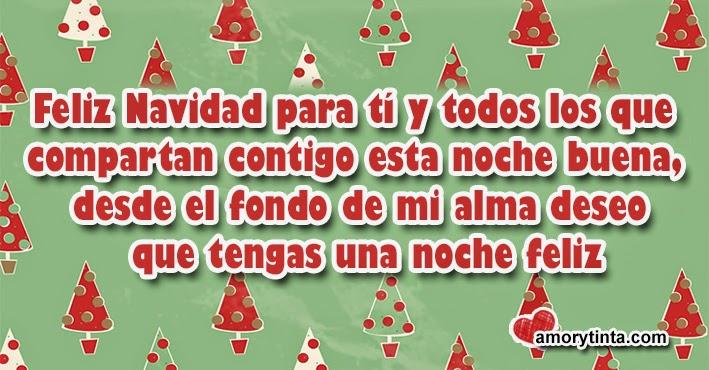 frase navideña con arbolitos de navidad de fondo