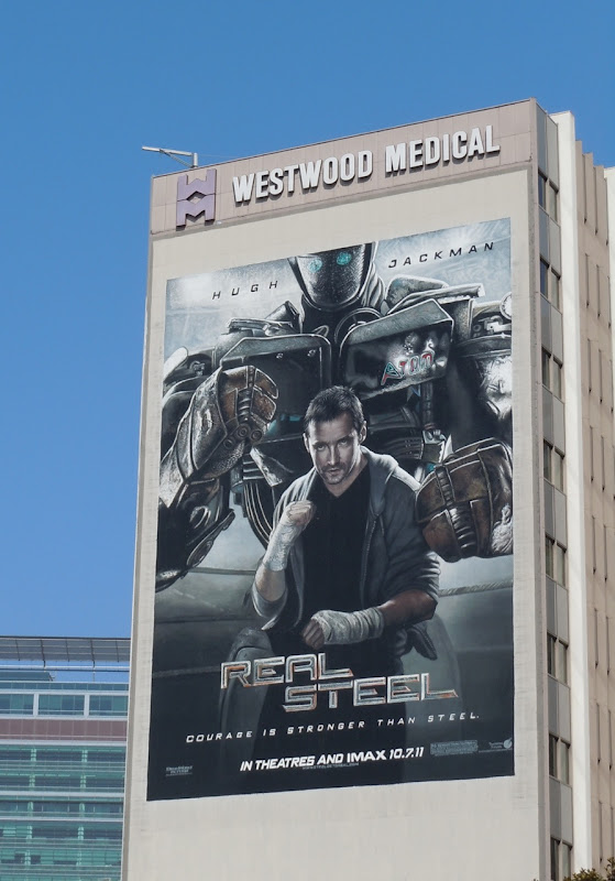 Hugh Jackman Real Steel billboard