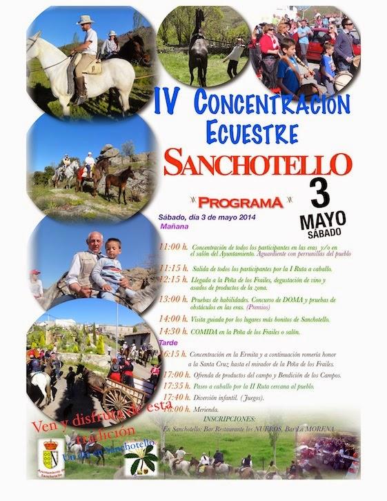 3/mayo. IV Concentración Ecuestre. Sanchotello