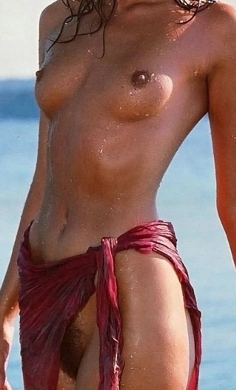 nude woman with halos and excited nipples