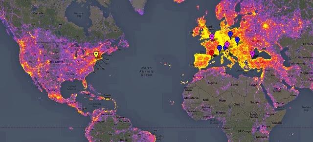 Mapa interactivo de los lugares más fotografiados en el planeta tierra
