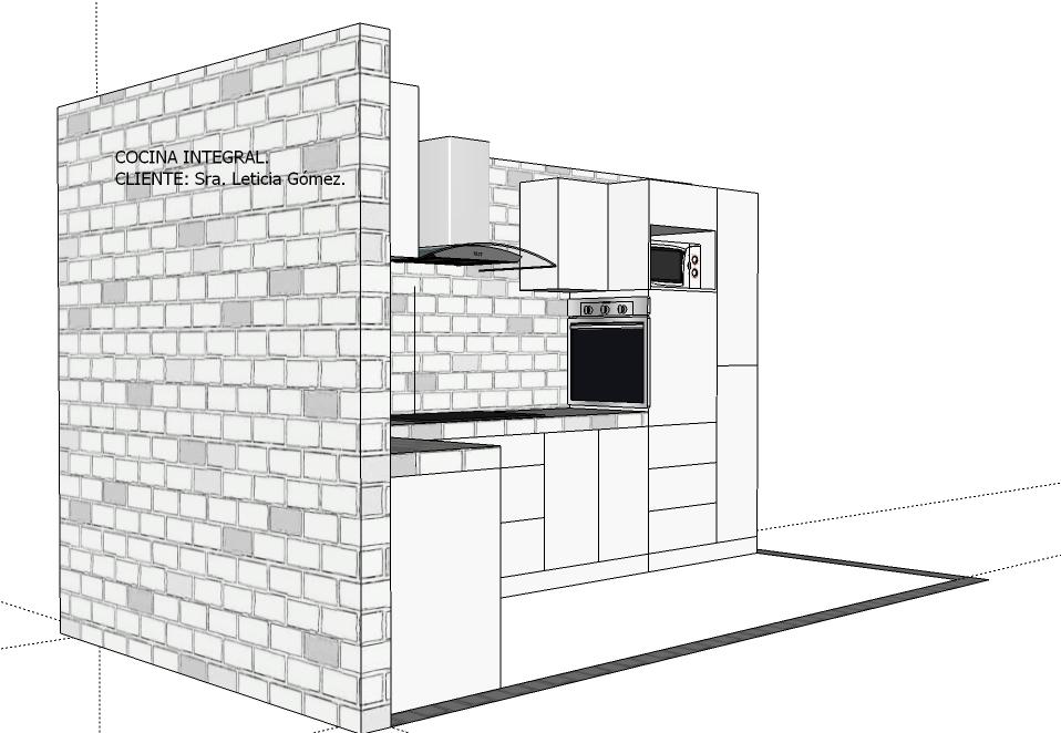 Closets y cocinas integrales residencial cocina integral for Cocina integral 3 metros
