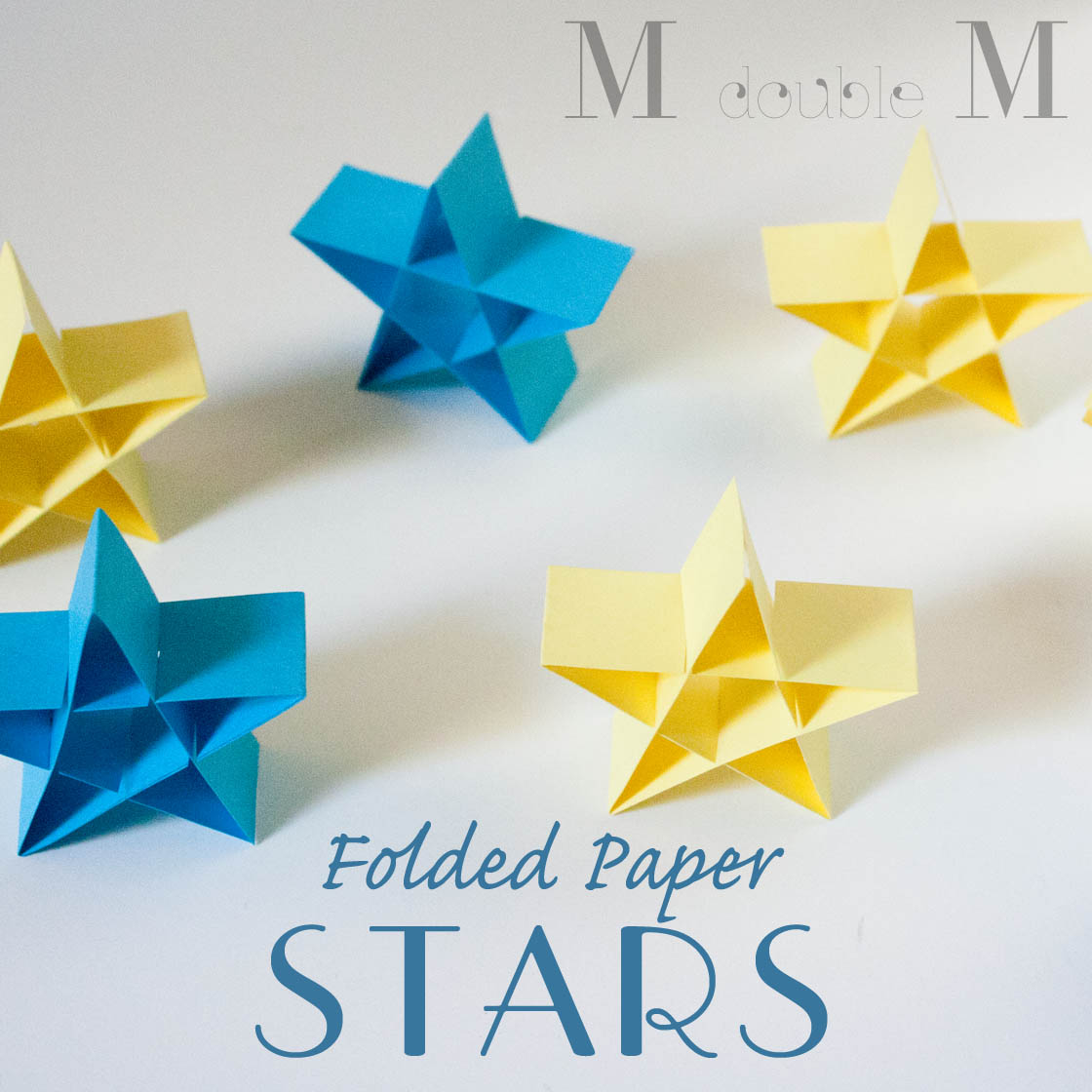 double M: Folded paper stars (DIY).
