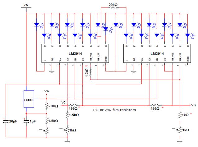 Simple Temperature Sensor Electronics Circuits