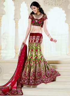Embroidered Fish Lehenga