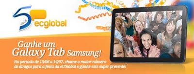Promoção Concorra a um Galaxy TAB da Samsung
