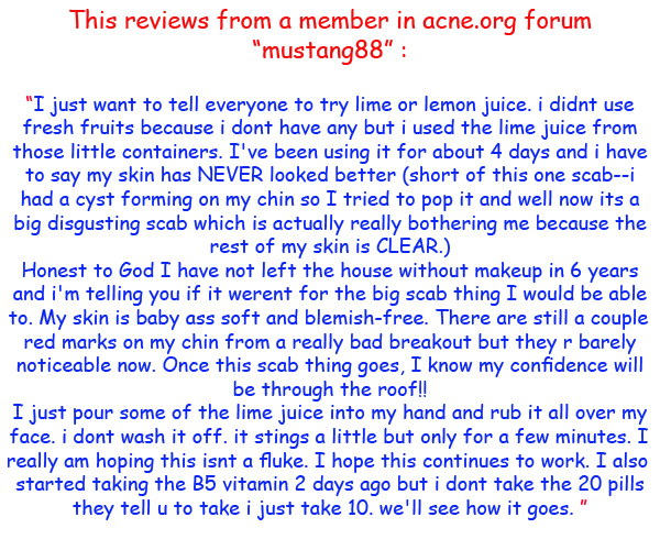 Lime for acne Reviews