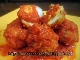 resep cara membuat balado telur goreng