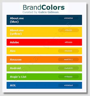 Brandcolors - Cores hexadecimais de famosas marcas da internet
