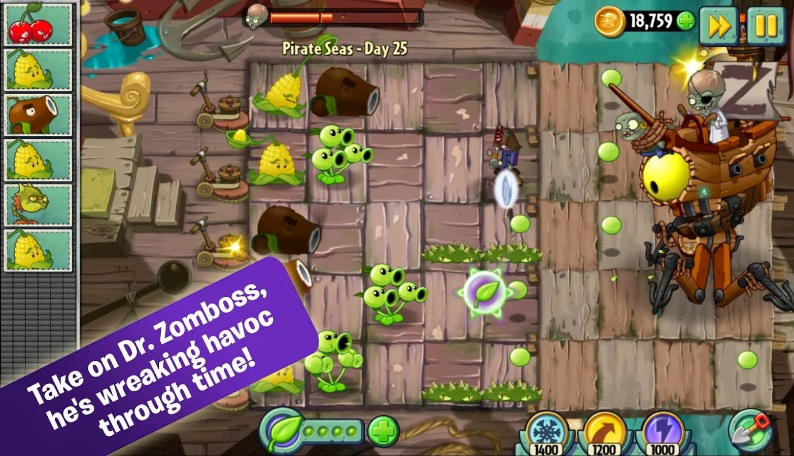 Plants vs. Zombies 2™ v2.3.1 Mod [Unlimited Coins/Gems]