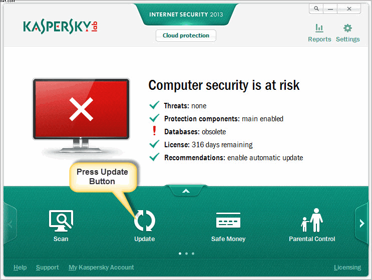 How To Update Kaspersky Antivirus & Internet Security 2013 Offline