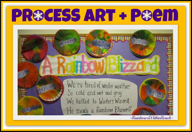 photo of: A Rainbow Blizzard: Process Art + Poem via RainbowsWithinReach