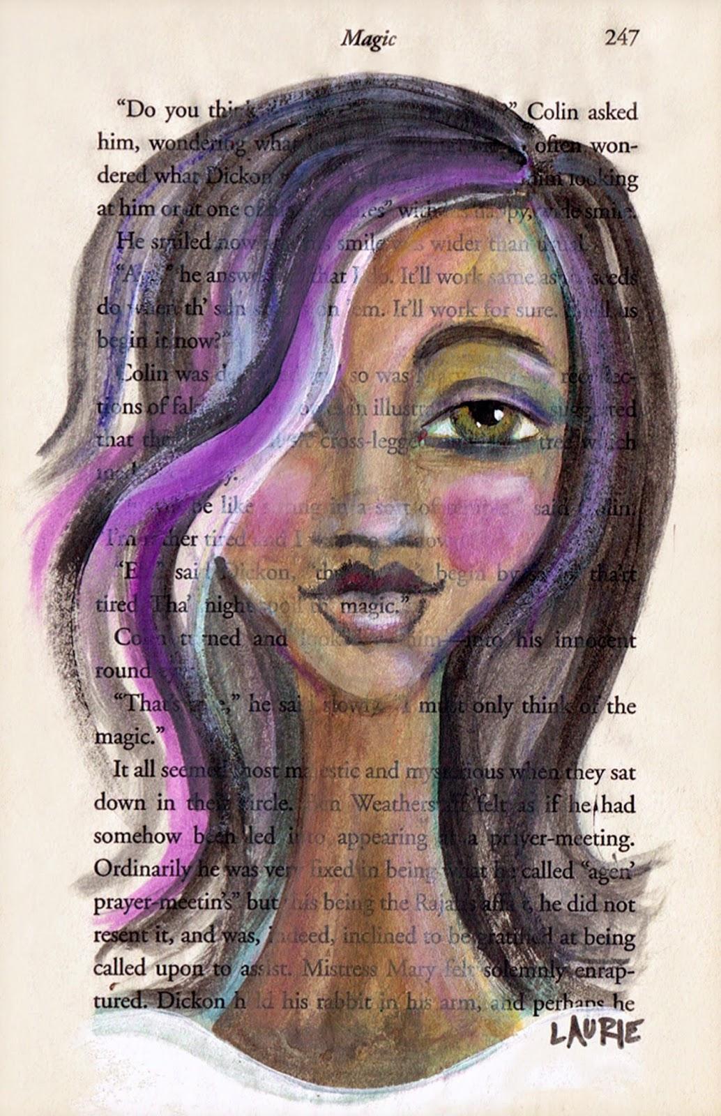 Modern African American Girl Art