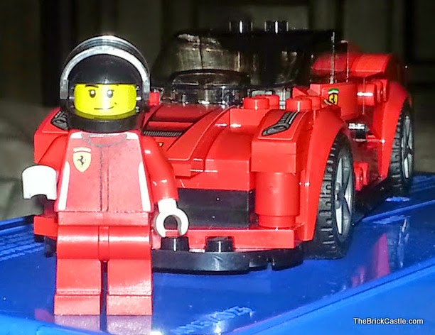 LEGO LaFerrari set 75899 Ferrari racing driver and car on concourse