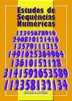 """Livro """"Estudos de Sequências Numéricas"""" de Ricardo José da Silva."""