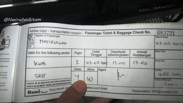 Tiket Pesawat sudah ditangan