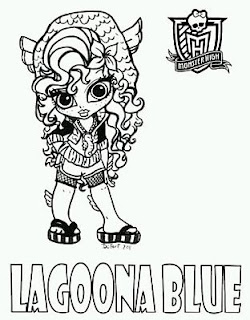 Monster High, Dibujos de Lagoona Blue para Pintar