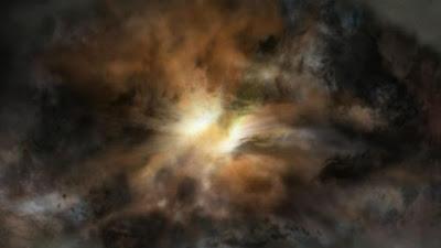 Galáxia 'mais brilhante' do Universo está se dilacerando