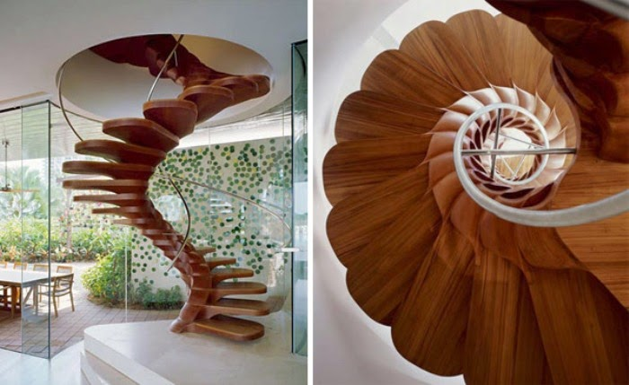flowers stairs design