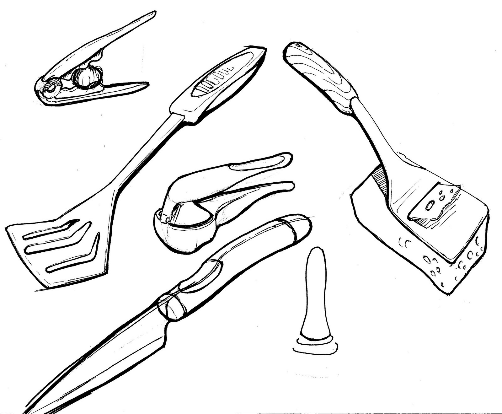 Sketch Of Kitchen Utensils : My sketch journal: kitchen utensils