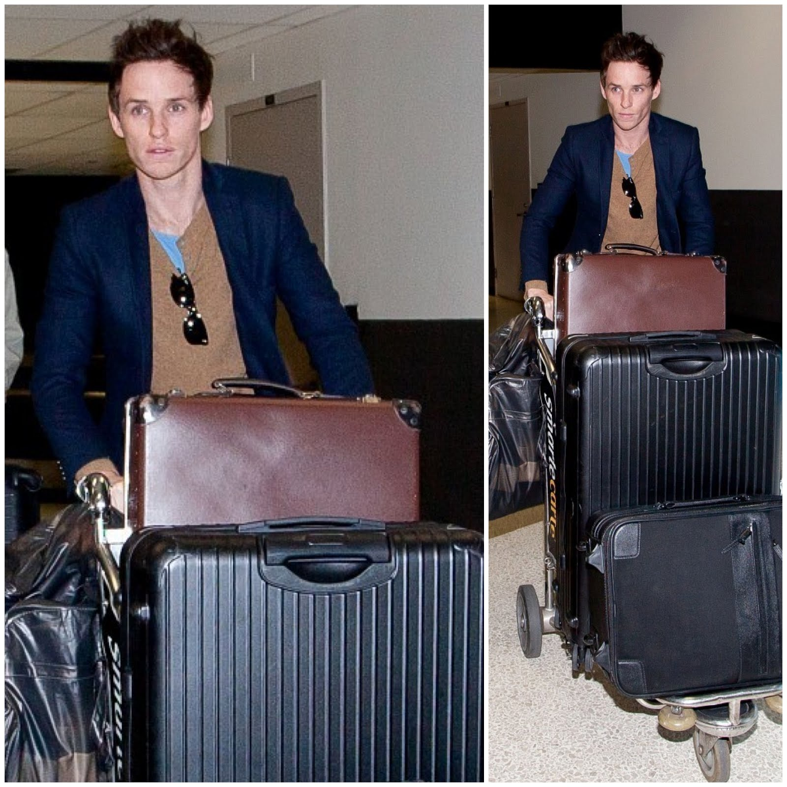 00O00 Menswear Blog: Eddie Redmayne's vintage Globe-Trotter and Rimowa luggages