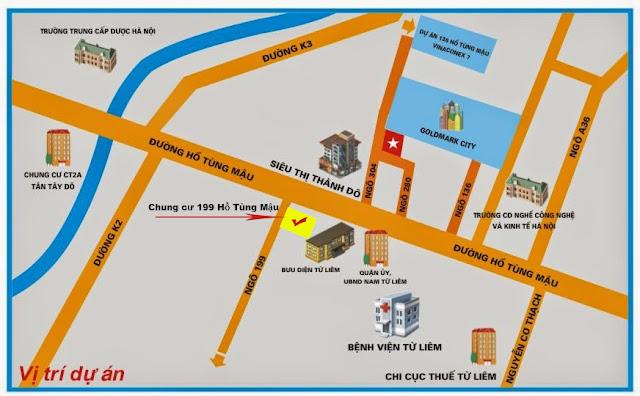 Vị trí chung cư cao cấp 199 Hồ Tùng Mậu giá rẻ, Nam Từ Liêm, HN