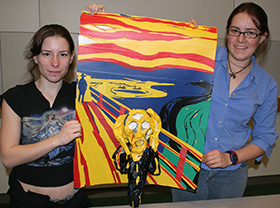 love duct tape. Duct Tape Art Winners: Melissa Walker (left) And Mariah Walton Earned First  Prize In Rose-Hulman Institute Of Technology\u0027s Contest With Love Duct Tape F