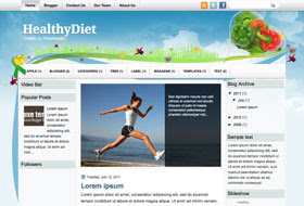 HealthyDiet Blogger Template