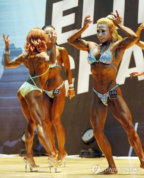Chicas coreanas muy musculadas